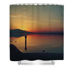 The End Of Another Day Without You Shower Curtain by Laurie Search