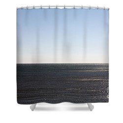 The End Of Long Island Shower Curtain by John Telfer