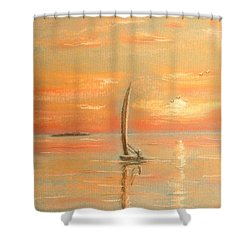 The Evening Light Shower Curtain by The Beach  Dreamer