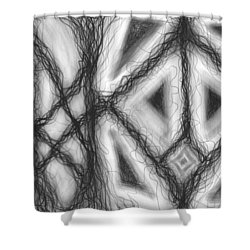 The Expansion Of Energy Is Everywhere Shower Curtain by Daina White