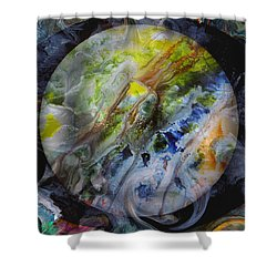 The Eye Of Silence Shower Curtain by Otto Rapp
