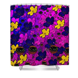 The Eyes Of Mother Nature Serve And Protect Shower Curtain by Pepita Selles
