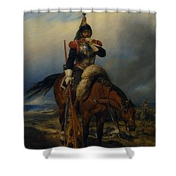 The Field Of Battle Shower Curtain by Paul  Delaroche