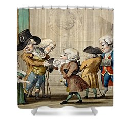 The First Approach, C.1790 Shower Curtain by Carlo Lasinio