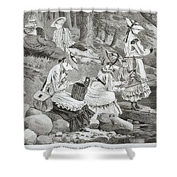The Fishing Party Shower Curtain by Winslow Homer