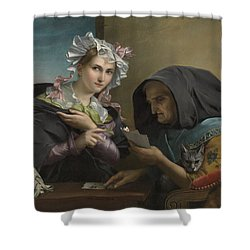 The Fortune Teller Shower Curtain by Adele Kindt