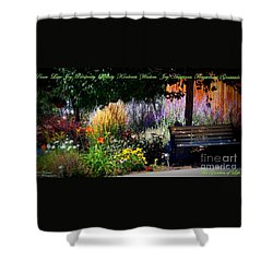 The Garden Of Life Shower Curtain by Bobbee Rickard
