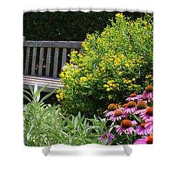 The Garden Of Tranquility Shower Curtain by Dora Sofia Caputo Photographic Art and Design