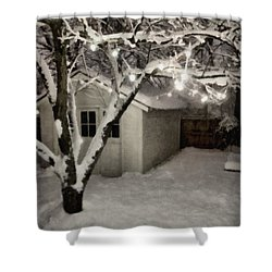 The Garden Sleeps Shower Curtain by Michelle Calkins