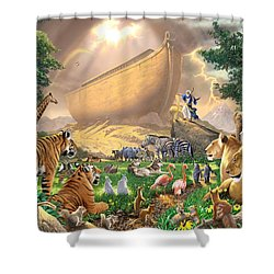 The Gathering Shower Curtain by Chris Heitt