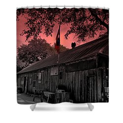 The General Store In Luckenbach Texas Shower Curtain by Susanne Van Hulst
