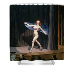 The Girlie Show Shower Curtain by Edward Hopper