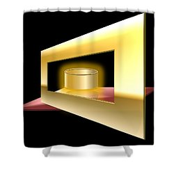 The Golden Can Shower Curtain by Cyril Maza
