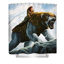 The Golden Compass  Shower Curtain by Paul Meijering