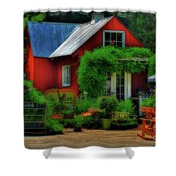The Good Life Shower Curtain by Lois Bryan