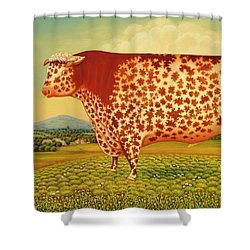 The Great Bull Shower Curtain by Frances Broomfield