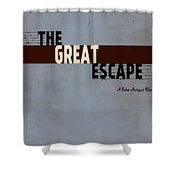 The Great Escape Shower Curtain by Ayse Deniz