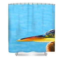 The Great One - Blue Heron By Sharon Cummings Shower Curtain by Sharon Cummings
