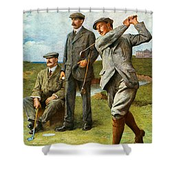 The Great Triumvirate Shower Curtain by Clement Flower