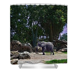The Grey Beast Shower Curtain by Ryan Crane
