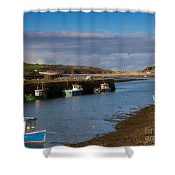 The Harbour At Hayle Cornwall Shower Curtain by Louise Heusinkveld