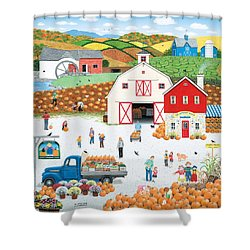 The Harvest Moon Shower Curtain by Wilfrido Limvalencia