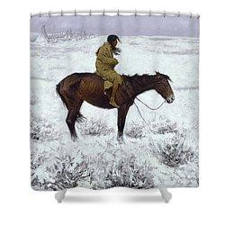 The Herd Boy Shower Curtain by Fredrick Remington