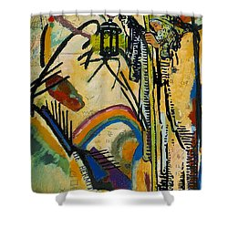The Hermit Tarot Card Shower Curtain by Corporate Art Task Force
