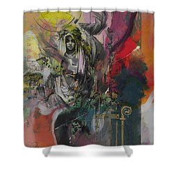 The High Priestess Shower Curtain by Corporate Art Task Force