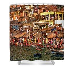 The Holy Ganges Shower Curtain by Steve Harrington