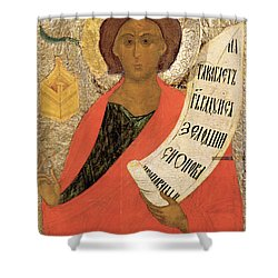 The Holy Prophet Zacharias Shower Curtain by Novgorod School