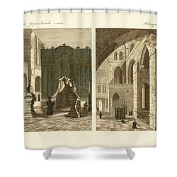 The Holy Sepulcher Of Jerusalem Shower Curtain by Splendid Art Prints