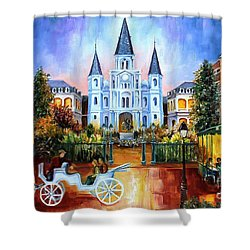 The Hours On Jackson Square Shower Curtain by Diane Millsap