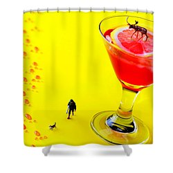 The Hunting Little People Big Worlds Shower Curtain by Paul Ge