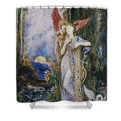 The Inspiration  Shower Curtain by Gustave Moreau