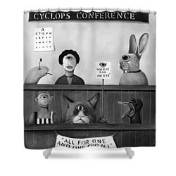 The International Cyclops Conference Edit 4 Shower Curtain by Leah Saulnier The Painting Maniac