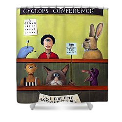 The International Cyclops Conference Shower Curtain by Leah Saulnier The Painting Maniac