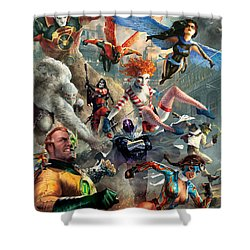 The Invincibles Shower Curtain by Ryan Barger