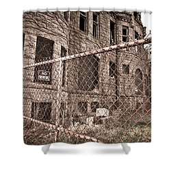 The James Scott Mansion Shower Curtain by Priya Ghose