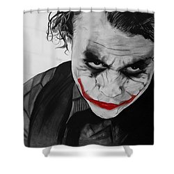 The Joker Shower Curtain by Robert Bateman