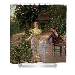 The Judgement Of Paris Shower Curtain by Hermann Koch