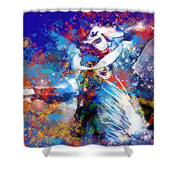 The King 3 Shower Curtain by Bekim Art