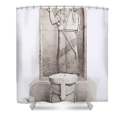 The King And Sacrificial Altar, Nimrud Shower Curtain by English School
