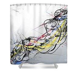 The King David  Shower Curtain by Mark Ashkenazi