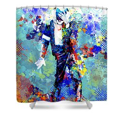 The King Shower Curtain by Bekim Art