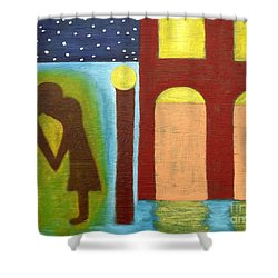 The Kiss Goodnight Shower Curtain by Patrick J Murphy