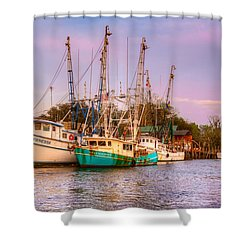 The Lady Vanessa Shower Curtain by Debra and Dave Vanderlaan