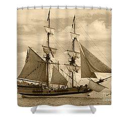 The Lady Washington Ship Shower Curtain by Kym Backland