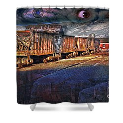 The Last Shipment Shower Curtain by Gunter Nezhoda