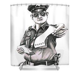 The Law Shower Curtain by Murphy Elliott